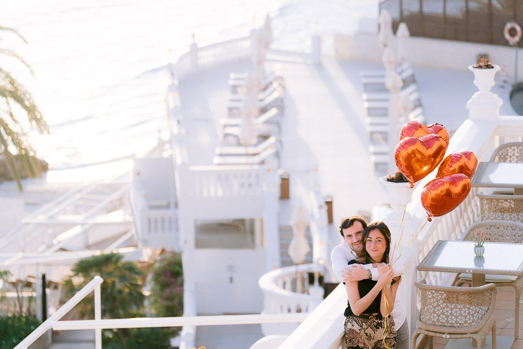 Wedding Proposal with Photos in Hotel Nixe Palace in Mallorca