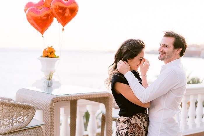 Surprise Wedding Proposal with Photos in Hotel Nixe Palace in Mallorca