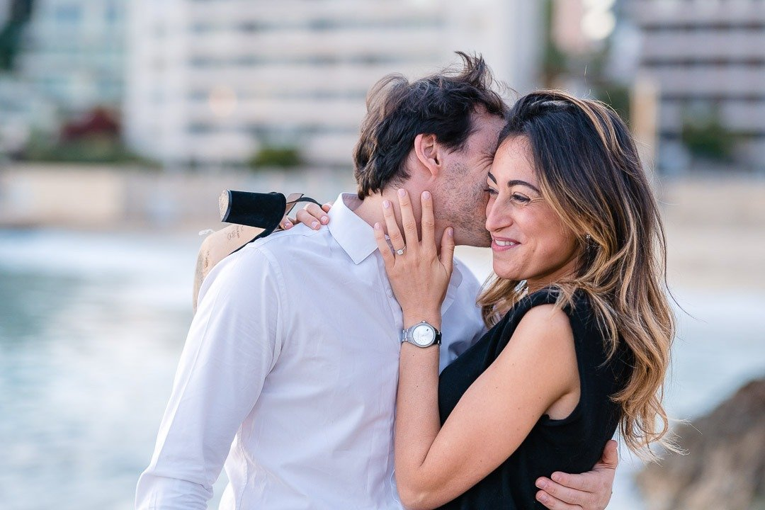 Couple Photo Session in Mallorca at the Cala Major beach, by the Hotel Nixe Palace
