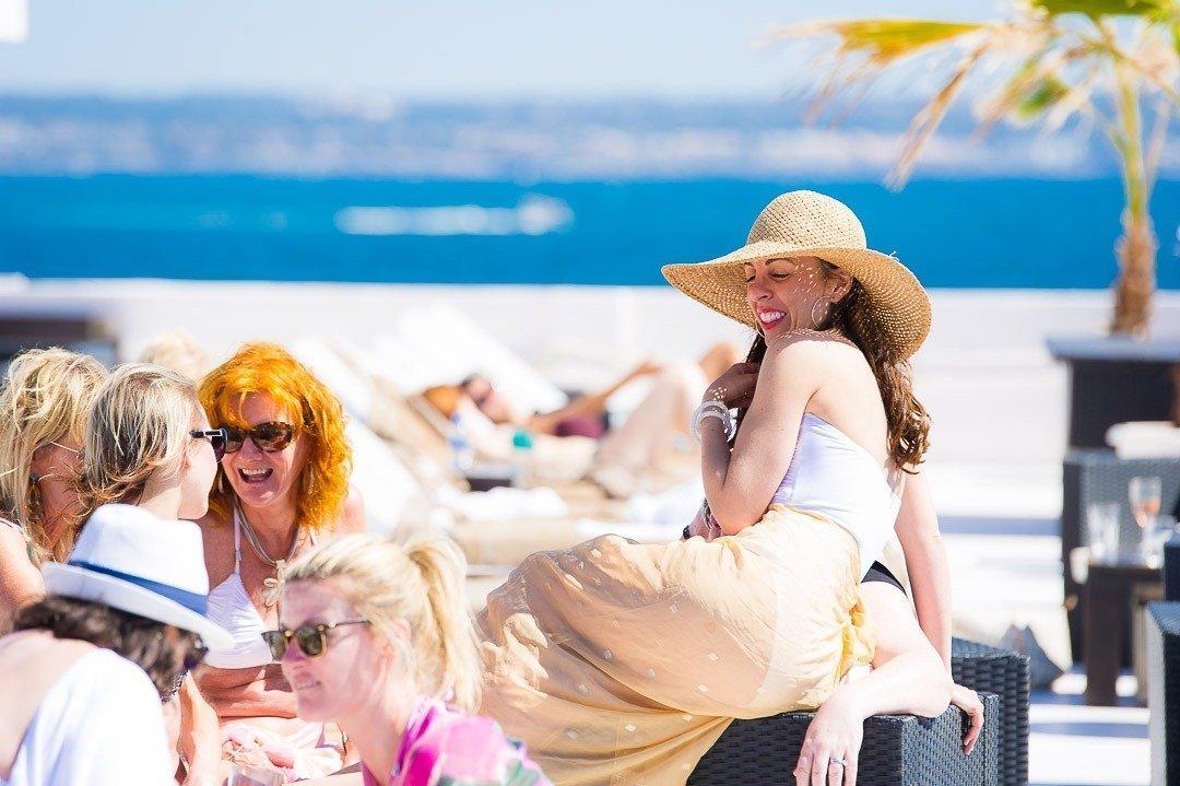 Relaxing before their Destination Wedding at Puro Beach