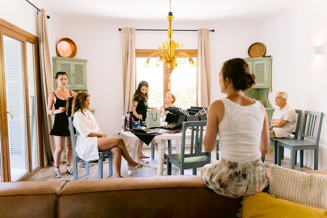 Hair and Makeup by Luxus and organized by Heirat Mallorca