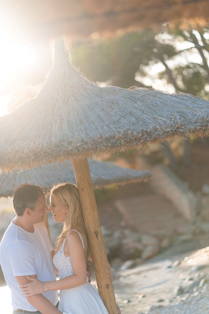 Photo Session on the Beach at Port Portals in Mallorca