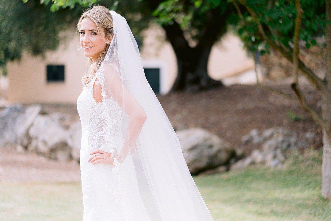 Bridal Portrait for Mallorca Destination Wedding Photography at Son Simo Vell Finca