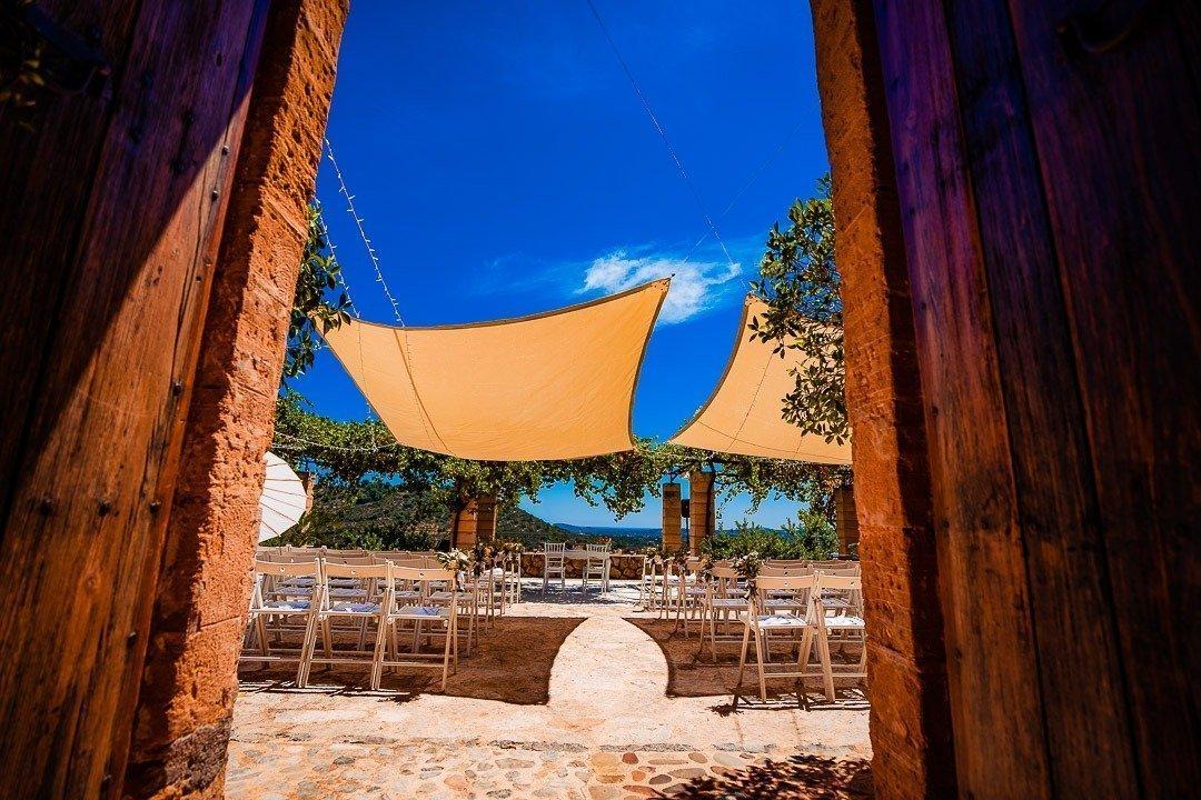 Ses Voltes Wedding Venue ready for a marvellous Ceremony