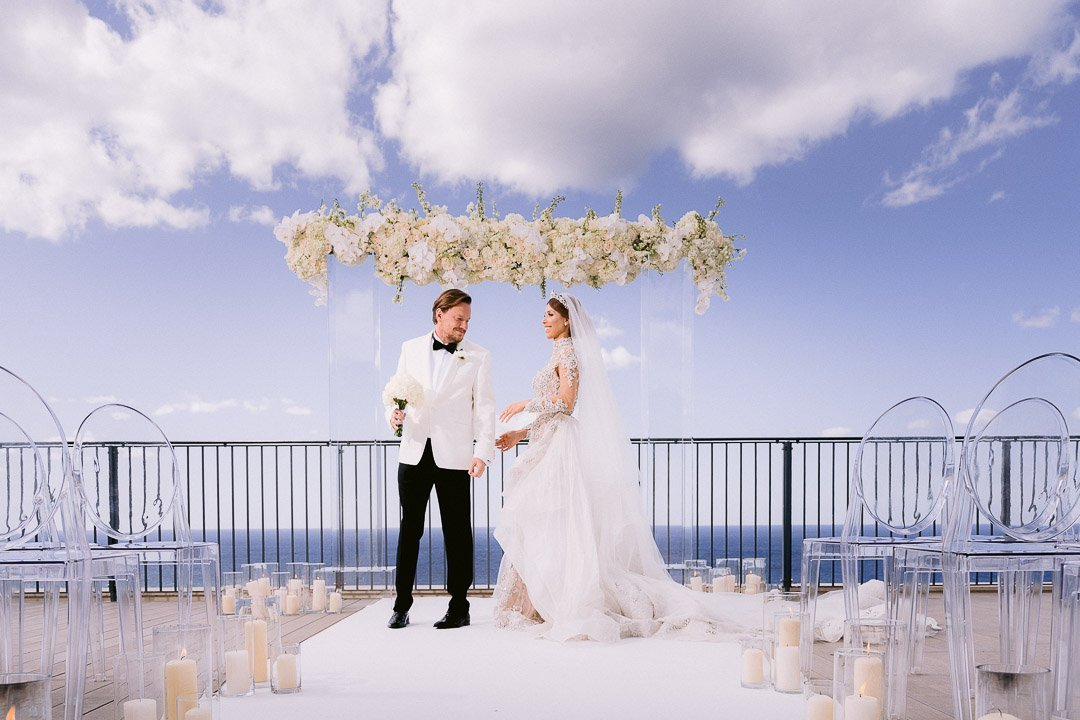 First look at the ceremony area at this Mallorca Wedding Destination
