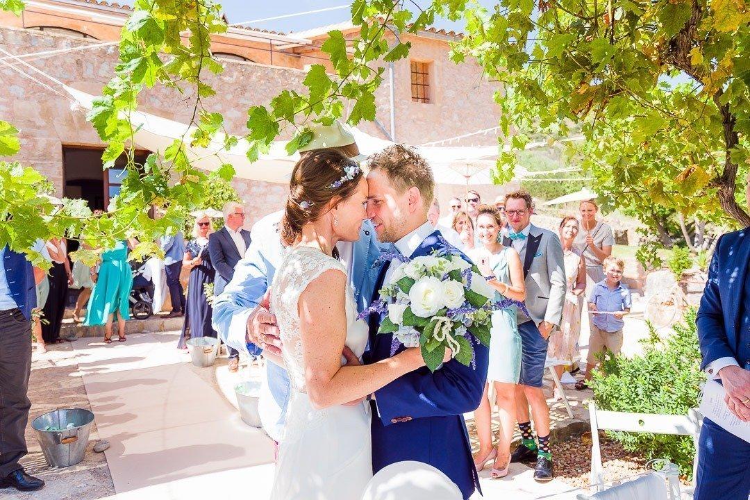 Wedding Ceremony Moments at Destination Wedding in Mallorca  at Finca Ses Voltes Wedding Venue