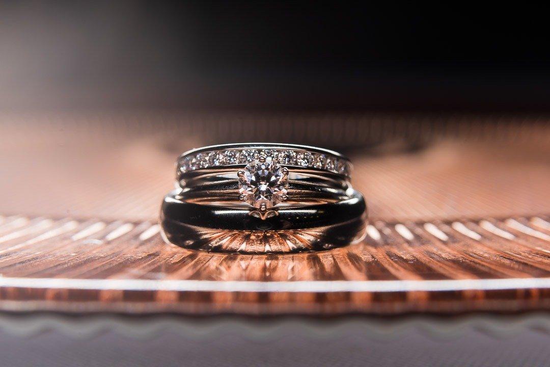 Lovely Tiffany Diamond Wedding Rings. Photographed in Mallorca Destination Wedding