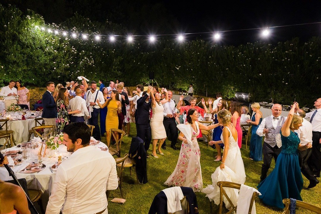 Party time starts for Mallorca Destination Wedding Photography at Son Simo Vell Finca