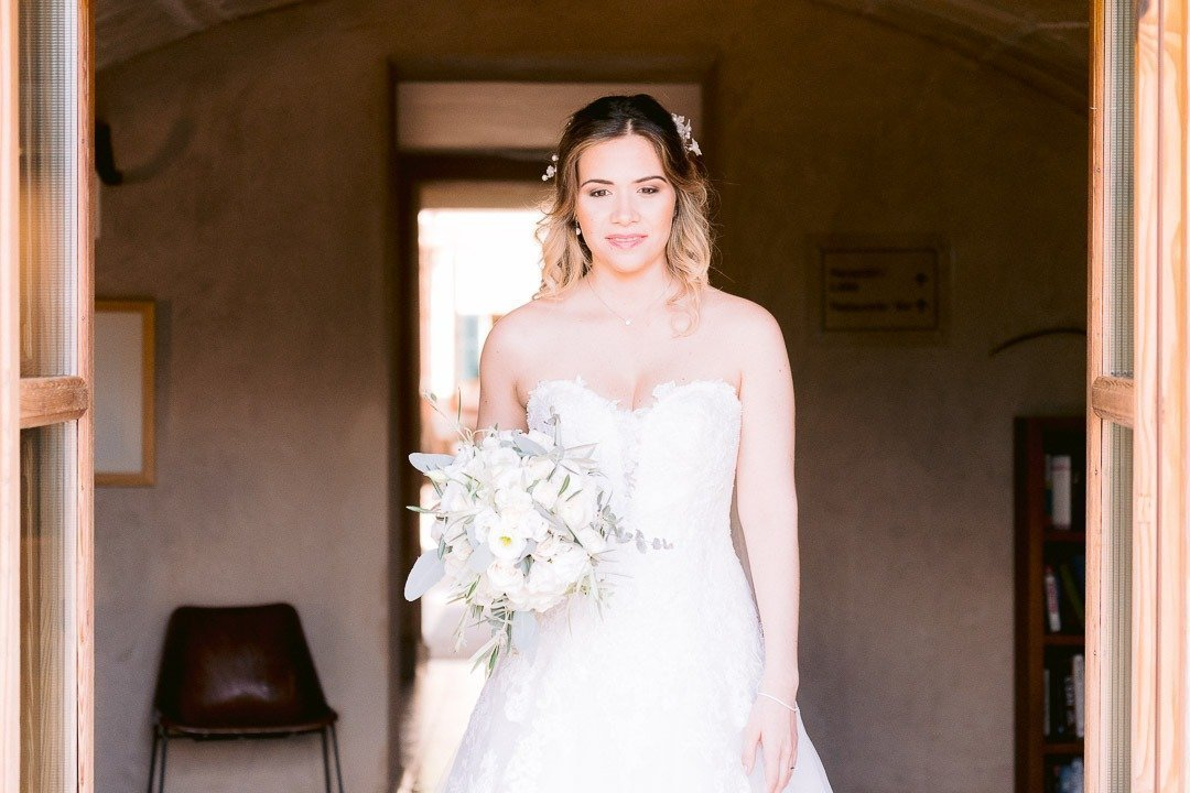 Her moment, instances before arriving to her Wedding Ceremony in Mallorca Destination Wedding Photographer