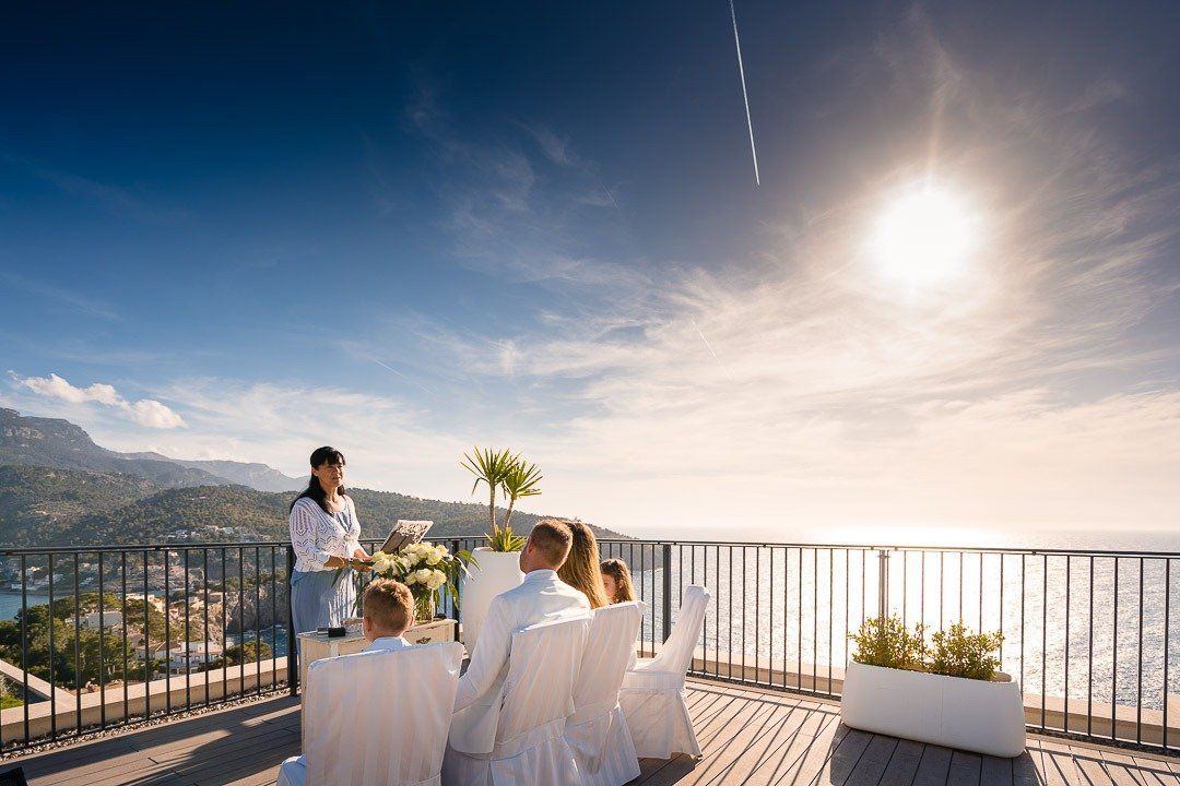 Elopement Wedding in Mallorca was a lovely surprise for the Bride at the Jumeirah Hotel in Soller venue.