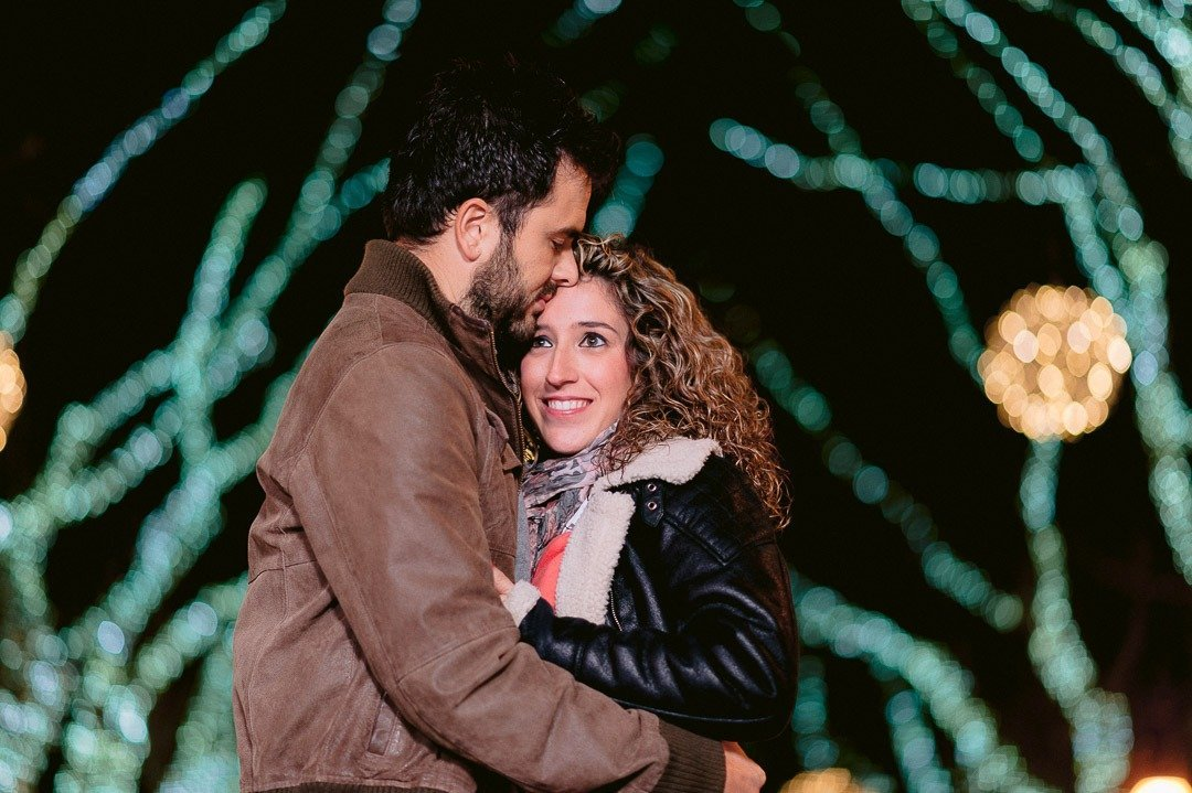 Engagement Session at Christmas in Palma of Mallorca