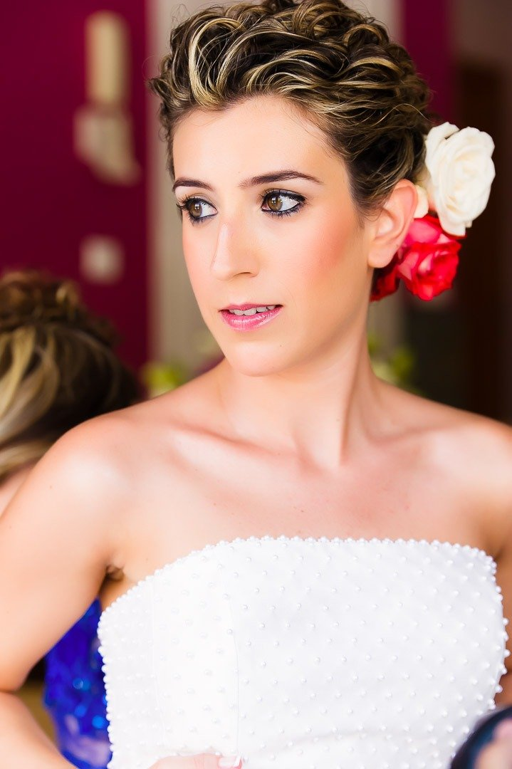 Bride Getting Ready for Wedding at Finca Son Marroig in Mallorca