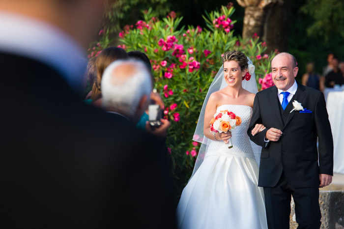 Portrait of Bride and Father. Wedding at Finca Son Marroig